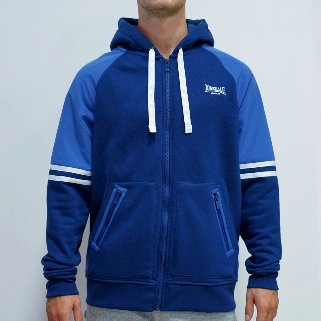 Толстовка Lonsdale Heavy Zipped Hoody Mens синяя 2