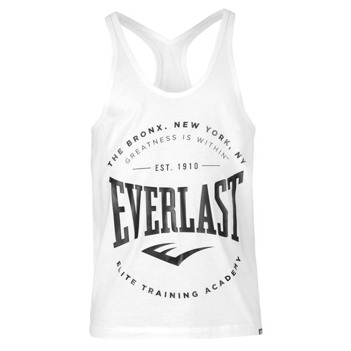 Майка Everlast String Vest Mens белая