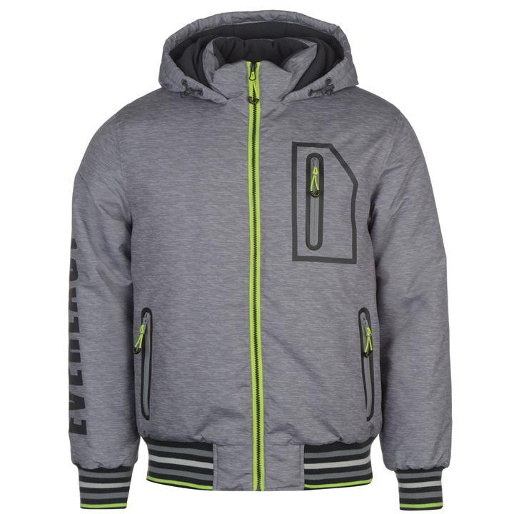 Куртка Everlast Hooded Bomber Jacket Mens серая