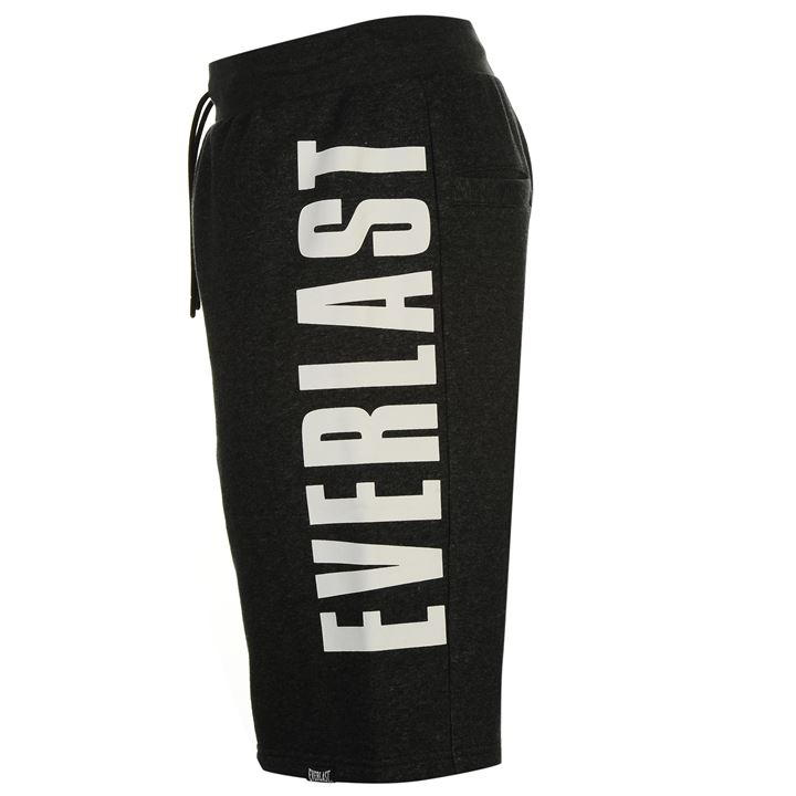 Шорты Everlast Large Logo Fleece Shorts Mens уголь