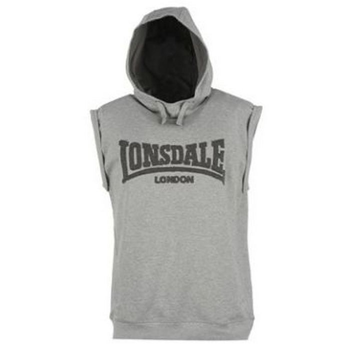 Безрукавка Lonsdale Box Sleveless Hoody Mens серая