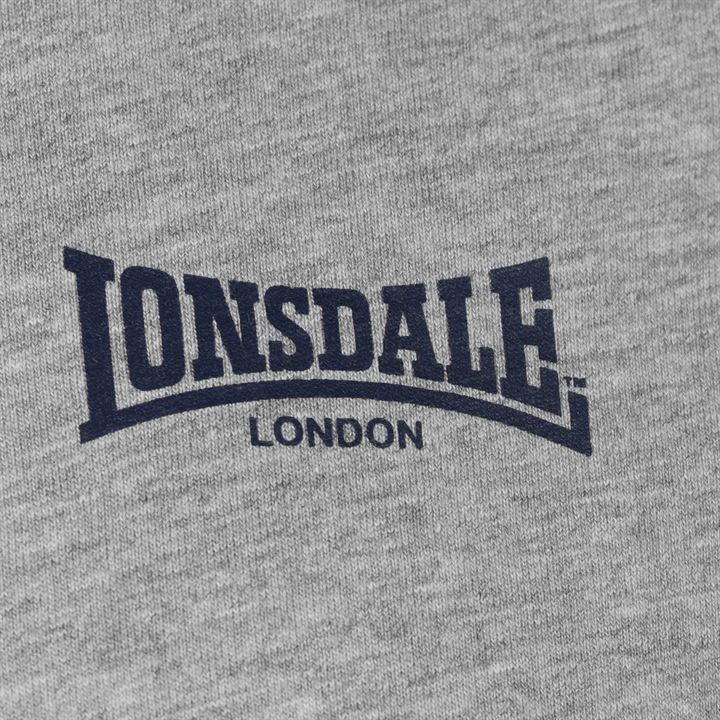 Футболка Lonsdale LDN Lion T Shirt Mens серая