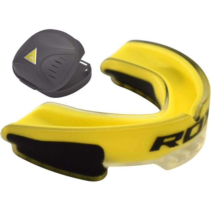 Капа RDX MOUTH GUARD ADULT жёлтая