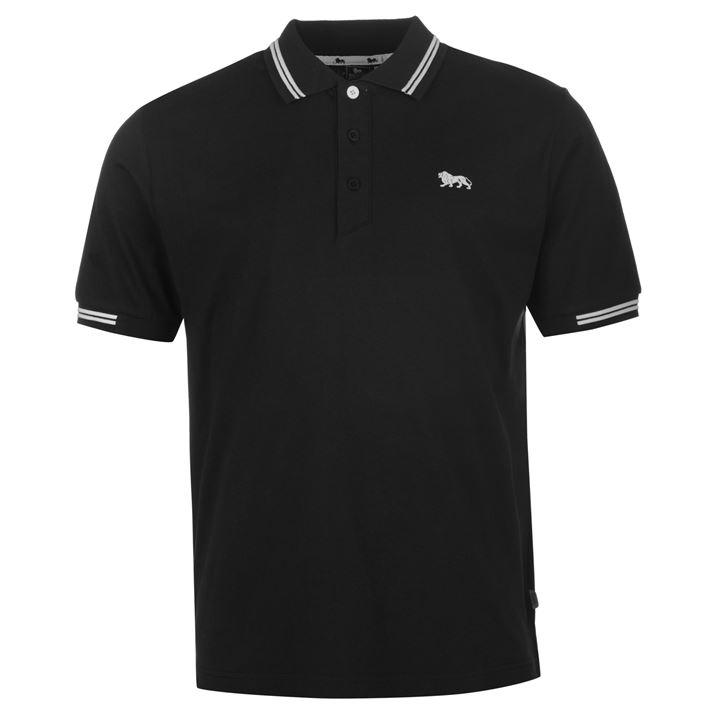 Поло Lonsdale Lion Polo Shirt Mens черное