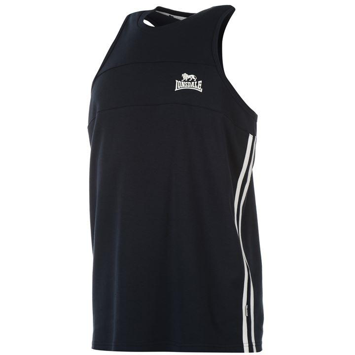 Майка Lonsdale Two Stripe Muscle Vest Mens синяя 2