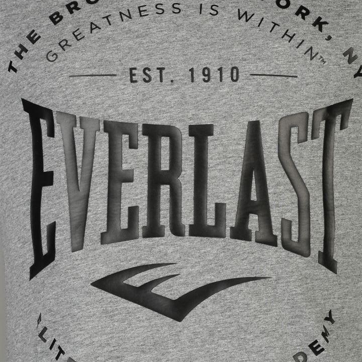 Футболка Everlast Logo T Shirt Mens серая