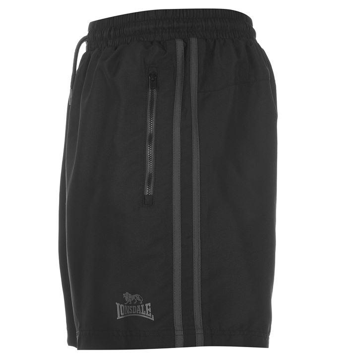 Шорты Lonsdale Two Stripe Woven Shorts Mens черные 2