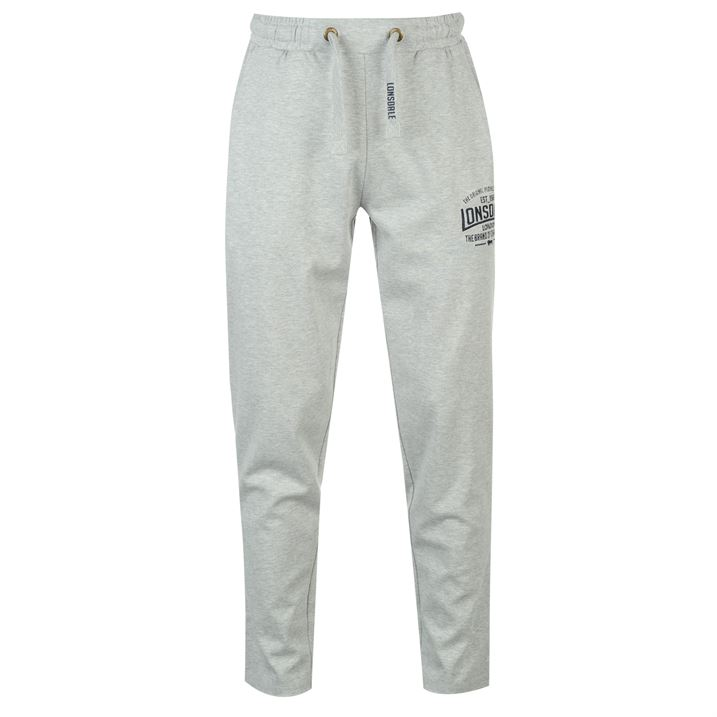 Штаны Lonsdale Box Lightweight Sweat Pants Mens серые