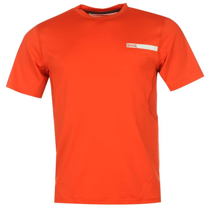 Футболка Lonsdale Training Pro T Shirt Mens оранжевая