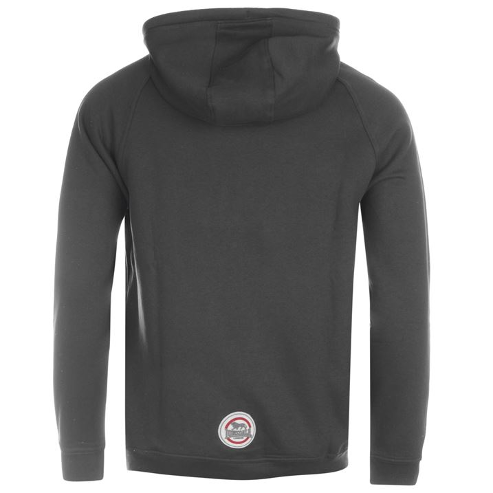 Толстовка Lonsdale Boxing Zipped Hoody Mens уголь