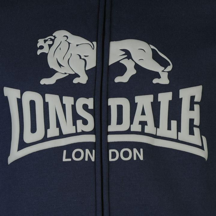 Толстовка Lonsdale Full Zip Jacket Mens синяя
