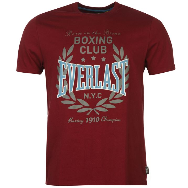 Футболка Everlast Printed T Shirt Mens красная