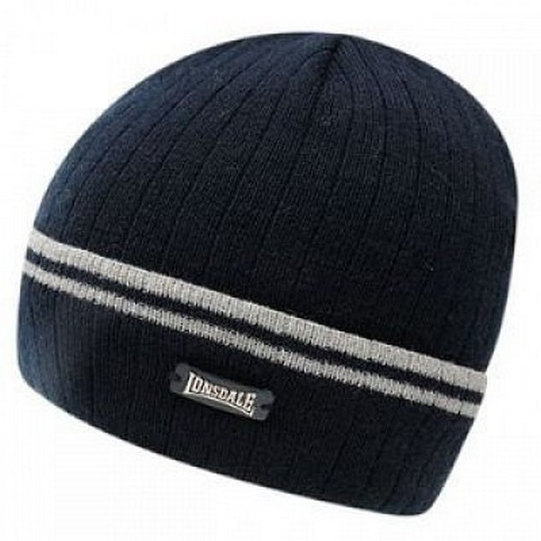 Шапка Lonsdale Turn Up Hat Sn 24 Mens navy