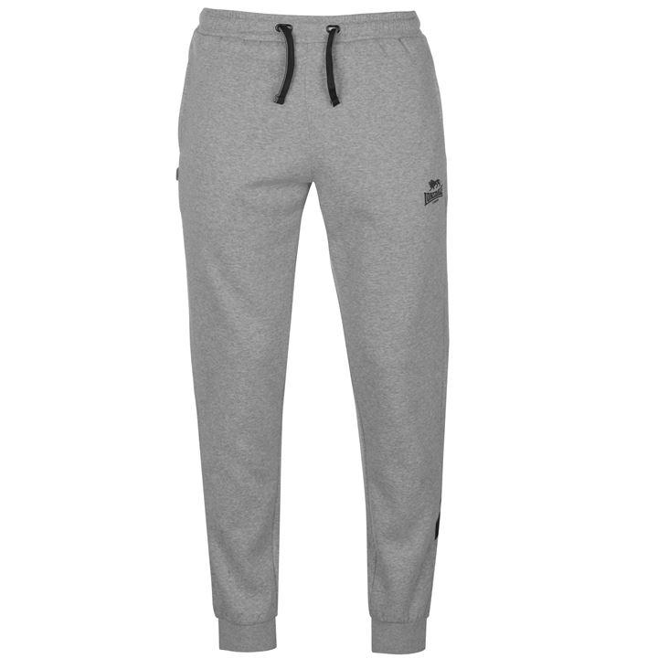 Штаны Lonsdale Sports 2 Stripe Sweat Pants Mens серые
