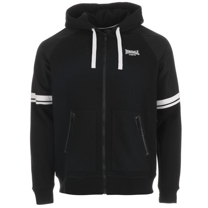 Толстовка Lonsdale Heavy Weight Zipped Hoody Mens черная